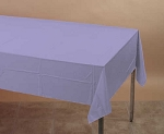 LAVENDER Plastic lined paper rectangle tablecloth-cover 54