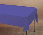 PURPLE Plastic lined paper rectangle tablecloth-cover 54