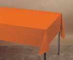ORANGE Plastic lined paper rectangle tablecloth-cover 54