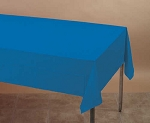 ROYAL BLUE Plastic lined paper rectangle tablecloth-cover 54