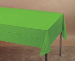 CITRUS GREEN Plastic lined paper rectangle tablecloth-cover 54