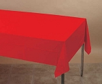 RED Plastic lined paper rectangle tablecloth-cover 54