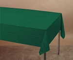 HUNTER FOREST GREEN Plastic lined paper rectangle tablecloth-cover 54