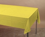 SCHOOL BUS YELLOW Plastic lined paper rectangle tablecloth-cover 54