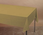 GOLD Plastic lined paper rectangle tablecloth-cover 54
