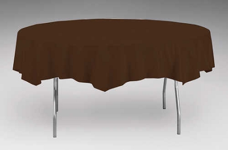 Brown Plastic Backed Paper Lined Tablecloths 54 Quot X 108 Quot Black