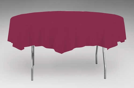 Burgundy wine plastic backed paper lined tablecloths 54 x for 108 inch round tablecloth fits what size table
