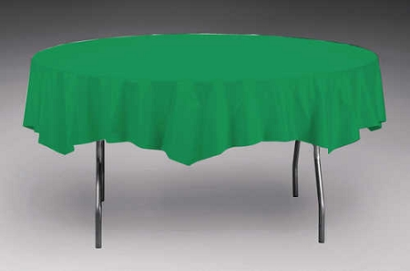 Emerald Green Plastic Backed Paper Lined Tablecloths 54