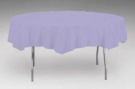 Lavender plastic backed paper lined tablecloths 54 quot x 108 quot black