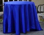 "90"" round satin polyester tablecloth ROYAL BLUE"