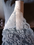 LS156-82 Ivory lace table runner
