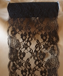 LS156-89 Black lace table runner