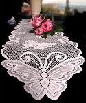 LS171-82 Ivory lace table runner