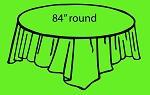 "84"" plastic round tablecover APPLE GREEN"