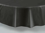 "84"" plastic round tablecover-tablecloth BLACK"