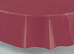 "84"" plastic round tablecover-tablecloth BURGUNDY"