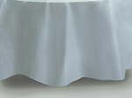 "84"" plastic round tablecover FROSTED CLEAR"