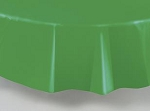"84"" plastic round tablecover-tablecloth EMERALD GREEN"