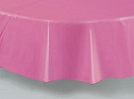 "84"" plastic round tablecover-tablecloth HOT PINK"