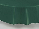 "84"" plastic round tablecover-tablecloth HUNTER GREEN"