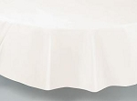 "84"" plastic round tablecover-tablecloth IVORY EGGSHELL"