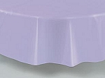 "84"" plastic round tablecover-tablecloth LAVENDER"