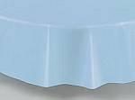 "84"" plastic round tablecover-tablecloth LIGHT BABY BLUE"