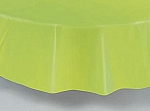 "84"" plastic round tablecover-tablecloth APPLE GREEN"