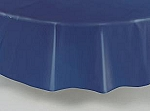 "84"" plastic round tablecover-tablecloth NAVY"