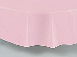 "84"" plastic round tablecover-tablecloth PINK"