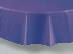 "84"" plastic round tablecover-tablecloth PURPLE"