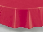 "84"" plastic round tablecover-tablecloth RED"
