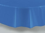 "84"" plastic round tablecover-tablecloth ROYAL BLUE"