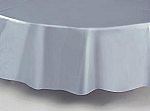 "84"" plastic round tablecover-tablecloth SILVER GRAY"