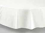 "84"" plastic round tablecover-tablecloth WHITE"