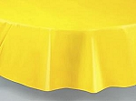 "84"" plastic round tablecover-tablecloth YELLOW"