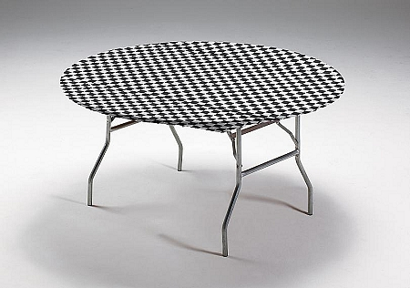Black and white checked paper tablecloths