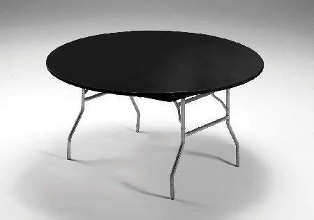 Black Stay Put Kwik Covers Plastic Fitted Round Table