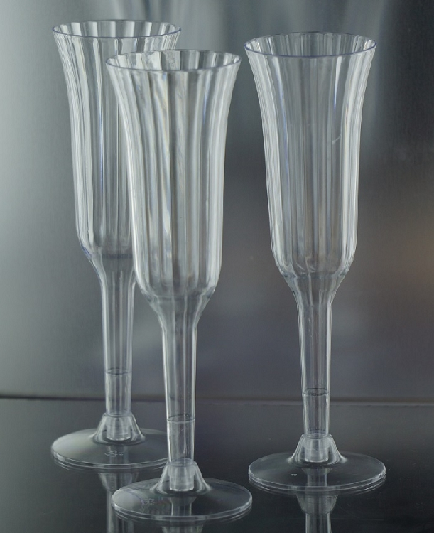 cpecf economy clear plastic champagne flute 12 pieces ep002