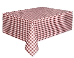 Gingham tablecloth RED plastic 54x108 UI50271