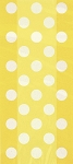 Polka dot cello bags YELLOW/WHITE 20 pcs 62063