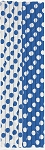 Polka dot paper straws ROYAL BLUE/WHITE 10 pcs  62084