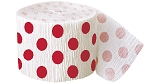 Polka dot paper crepe streamers RED/WHITE 1 pc  63122