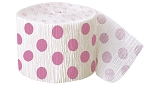 Polka dot paper crepe streamers HOT PINK/WHITE 1 pc  63125