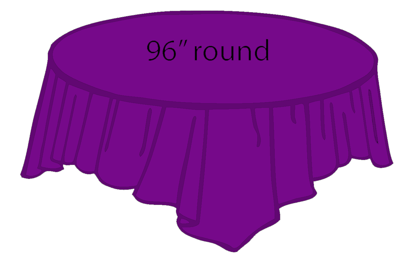 96 Quot Round Plastic Tablecloth Purple