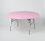 Pink elastic tablecover-cloth for 60 inch round table    KC60PK-PINK kwik cover