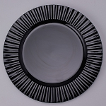 Plastic Charger Plate 13inch BLACK 150491bk