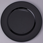 Plastic Charger Plate 13inch BLACK 150492BK