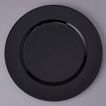 Plastic Charger Plate 13inch BLACK 150497BK