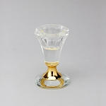 Crystal Candlestick Holder 3inch GOLD 740070gd